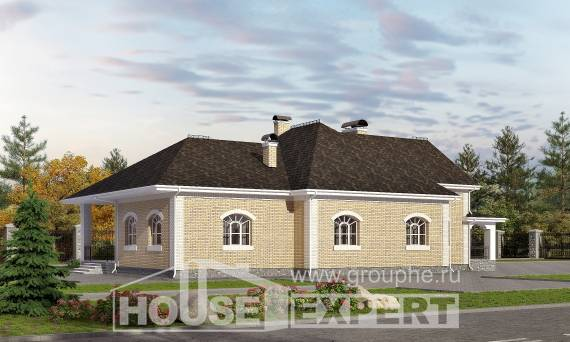 290-001-R Two Story House Plans with mansard roof and garage, modern Tiny House Plans, House Expert