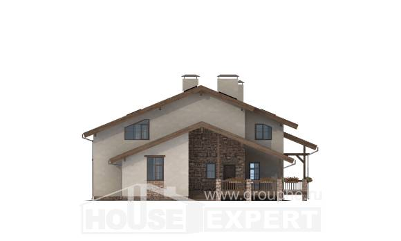 240-003-L Two Story House Plans with mansard, cozy Models Plans,