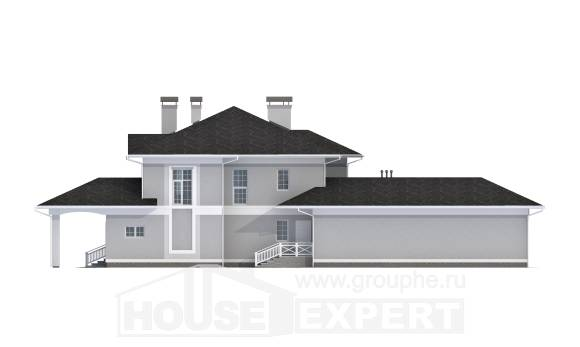 360-001-R Two Story House Plans with garage under, beautiful Home House,
