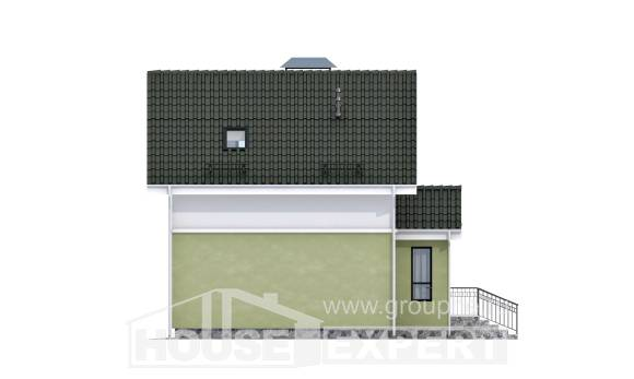 070-001-R Two Story House Plans with mansard roof, beautiful Construction Plans,