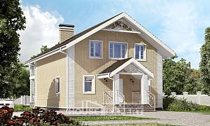 150-007-L Two Story House Plans and mansard, classic Blueprints