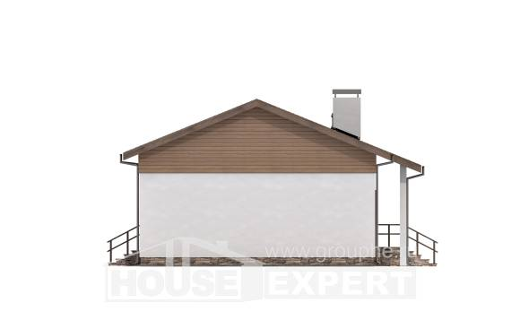 080-004-L One Story House Plans, the budget Villa Plan, House Expert