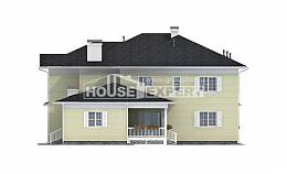 410-002-L Two Story House Plans with garage in front, beautiful House Planes,