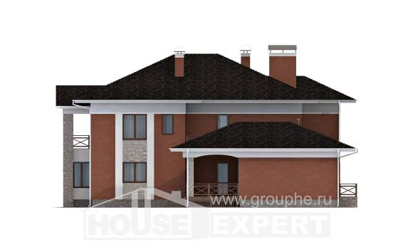 400-002-L Two Story House Plans and garage, modern Floor Plan