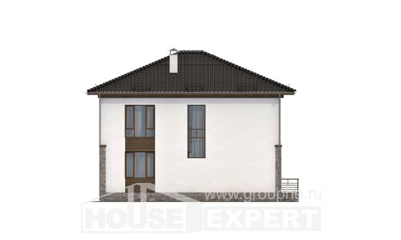 170-005-R Two Story House Plans, a simple Floor Plan,