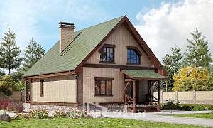 160-011-R Two Story House Plans with mansard roof, cozy Drawing House