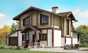 190-004-R Two Story House Plans with mansard roof and garage, luxury Models Plans,