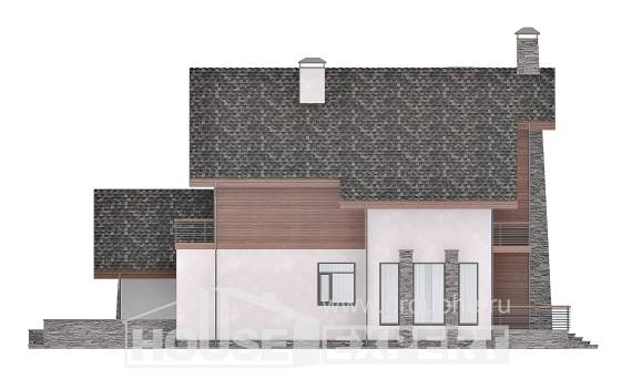 270-003-L Two Story House Plans with mansard roof and garage, big Home Plans,