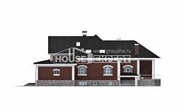 600-001-R Three Story House Plans with mansard with garage, classic Custom Home Plans Online, House Expert