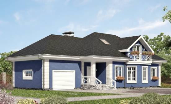 180-010-L Two Story House Plans and mansard with garage, classic Home Blueprints, House Expert