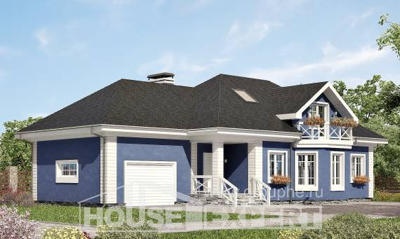 180-010-L Two Story House Plans with mansard with garage in front, spacious Architects House,