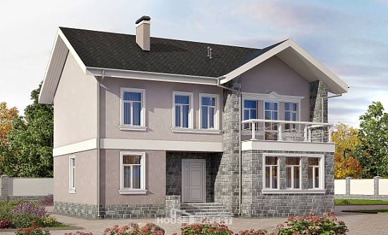 170-008-R Two Story House Plans, a simple Blueprints of House Plans,