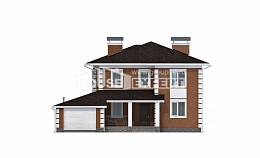 220-004-L Two Story House Plans with garage in front, cozy Ranch, House Expert