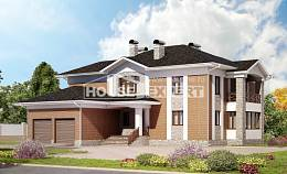 520-002-L Three Story House Plans with garage under, cozy Design Blueprints, House Expert