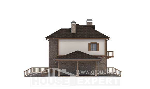 155-006-L Two Story House Plans with garage, a simple Architects House, House Expert