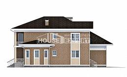 335-002-R Two Story House Plans with garage in front, a huge House Building,