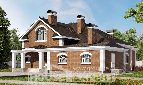 400-003-R Two Story House Plans with mansard roof, beautiful Timber Frame Houses Plans,