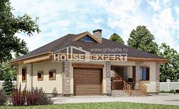 130-006-L One Story House Plans with garage, the budget Architectural Plans,