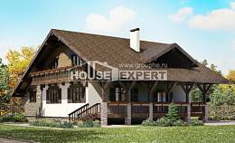 220-005-R Two Story House Plans with garage, a simple Tiny House Plans,