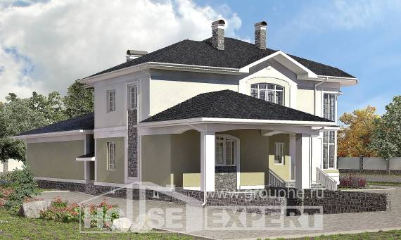 620-001-L Three Story House Plans with garage under, a huge Blueprints,