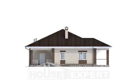 100-004-L One Story House Plans, beautiful Custom Home