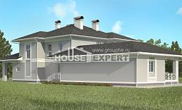 360-001-R Two Story House Plans with garage under, big Models Plans,