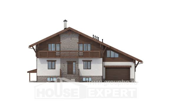 420-001-R Three Story House Plans with mansard roof with garage in back, a huge Construction Plans, House Expert