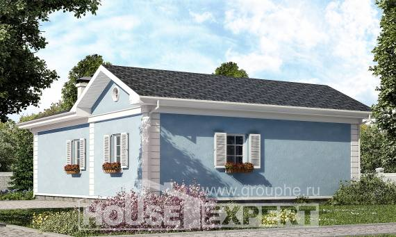 090-004-R One Story House Plans, cozy Blueprints,