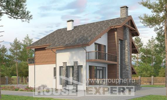 270-003-L Two Story House Plans with mansard with garage, a huge Models Plans,
