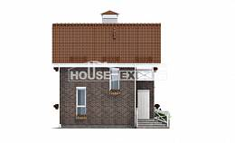 045-001-L Two Story House Plans with mansard roof, classic Tiny House Plans,