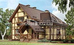 160-003-R Two Story House Plans with mansard, small Cottages Plans,