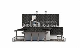 160-002-L Two Story House Plans and mansard with garage, classic House Online,