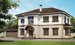 290-004-L Two Story House Plans with garage in front, beautiful Home House,