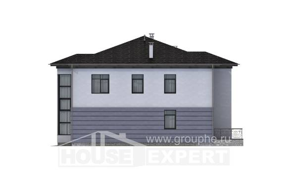 300-006-L Two Story House Plans and garage, a huge Blueprints of House Plans,