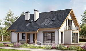 185-005-R Two Story House Plans with mansard and garage, best house House Building