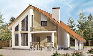 170-009-R Two Story House Plans with mansard roof with garage under, beautiful Woodhouses Plans,