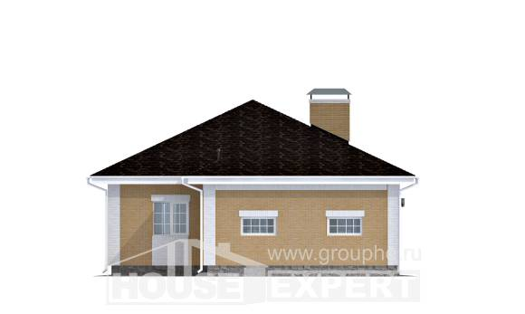 130-002-L One Story House Plans with garage in back, beautiful Custom Home Plans Online,