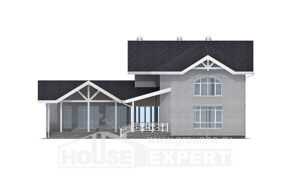 340-004-R Two Story House Plans, big Cottages Plans,