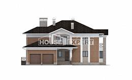 520-002-L Three Story House Plans with garage under, modern Online Floor