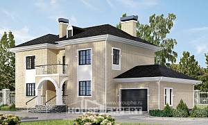 180-006-R Two Story House Plans with garage in front, a simple Design Blueprints
