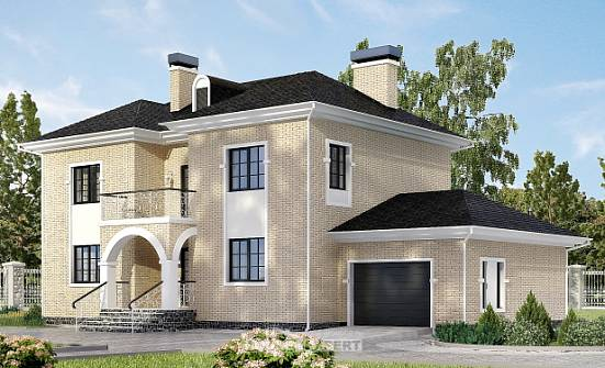 180-006-R Two Story House Plans with garage under, average Architects House,
