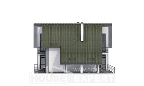 170-009-L Two Story House Plans with mansard and garage, available Floor Plan, House Expert