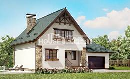 160-005-R Two Story House Plans with garage in front, available Models Plans,