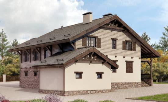 255-002-R Two Story House Plans and mansard with garage under, beautiful Dream Plan, House Expert