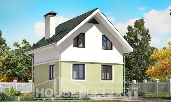 070-001-R Two Story House Plans and mansard, inexpensive Blueprints,