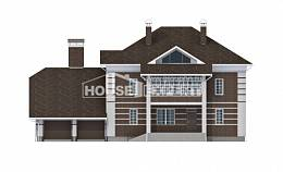 505-002-L Three Story House Plans with garage in back, a huge Cottages Plans,