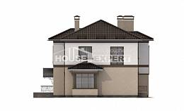 290-004-L Two Story House Plans with garage under, big Cottages Plans,
