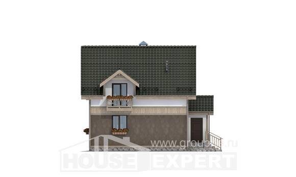 105-001-L Two Story House Plans with mansard roof, modern Ranch,