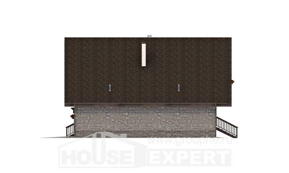 220-005-R Two Story House Plans with garage in front, beautiful Construction Plans,