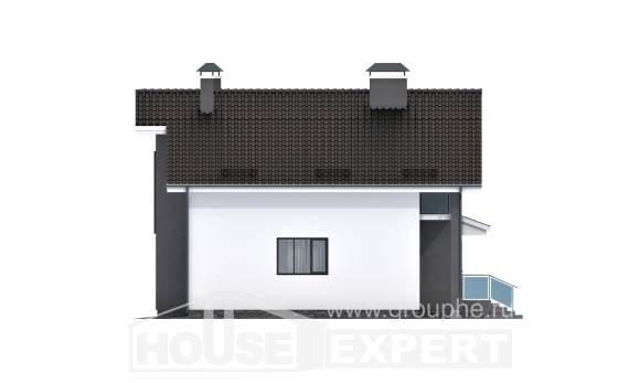 150-005-L Two Story House Plans with mansard, a simple Home Blueprints